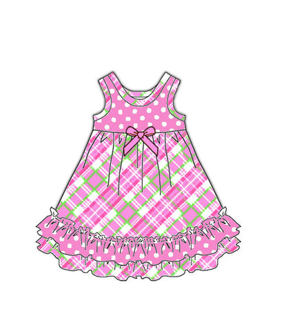 Laura Dare Pink Playful Plaid Doll Nightgown