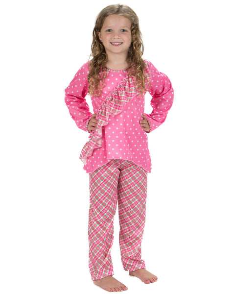 Laura Dare Playful Plaid Vertical Ruffle Pajamas