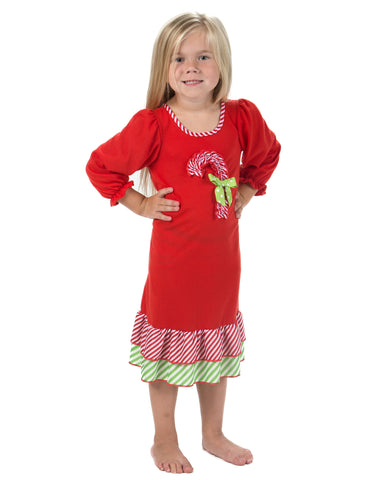 Laura Dare Magical Dots Candy Cane Nightgown (12M-14)