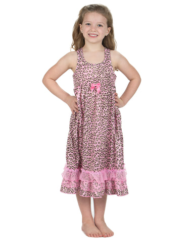 Laura Dare Pink Skin Racerback Nightgown (2T - 14 and Matching Dollgown)