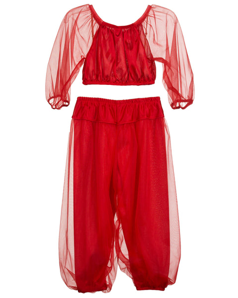 Laura Dare Girls Jeannie Genie Costume PJ Set (Solid Colors) (2T-14)
