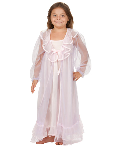 Laura Dare Angel Frills Peignoir Set with Night Gown (2T-14)