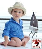 BullRed Baby Vented One Piece Fishing Shirt w/ Snap Closure (8 Solid Colors)