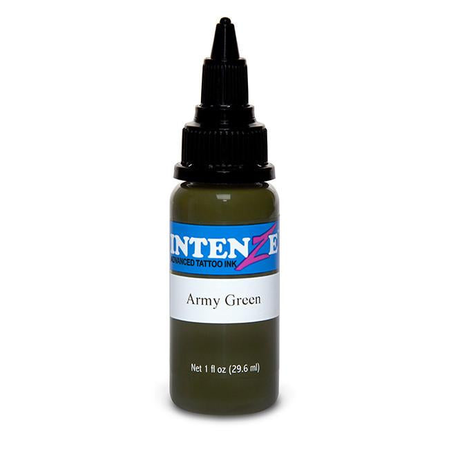 Army Green Tattoo Ink - Intenze Products Austria GmbH
