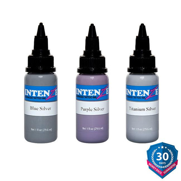Intenze Essential Silver Tattoo Ink Set