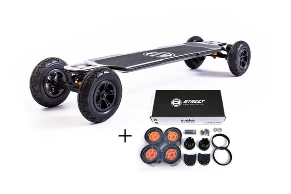 Evolve GT Carbon All-Terrain & Street 2in1 - e-longboard