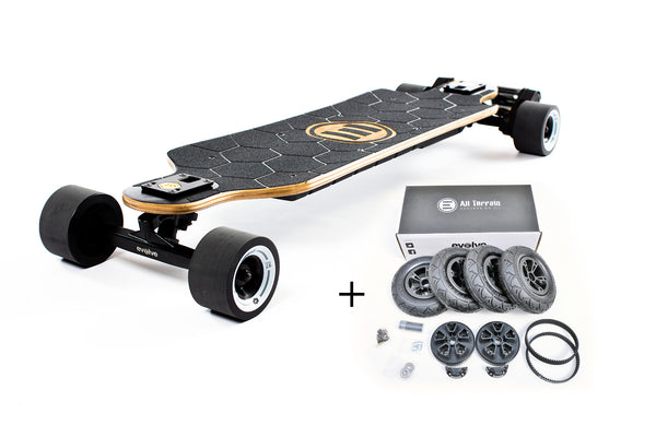 Evolve Bamboo GTX All-Terrain & Street 2in1 - e-longboard