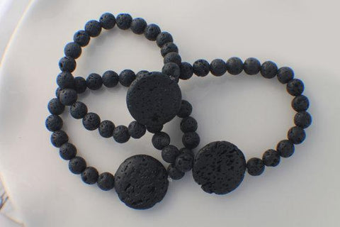 Black Lava Bead Essential Oil Diffuser Bracelet - Store Without A Door