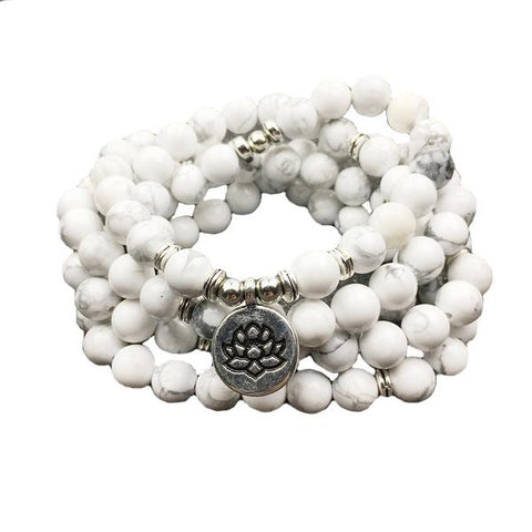 Wisdom Mala Howlite Beads - Store Without A Door
