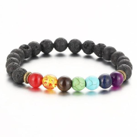 Seven Chakra Healing Natural Stone Bracelet - Store Without A Door