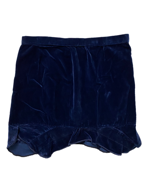 Velvet blue dreams Vintage  Mini skirt