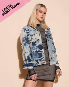 Sienna Tie Dye Denim Jacket