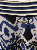 Knitted Burgoise Boheme Mini Skirt  / Pre-loved