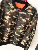 Camo bomber jacket/ pre-loved