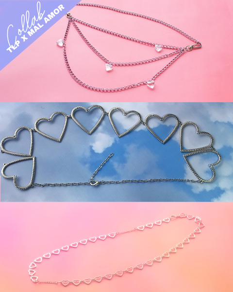 Hearts Belly chain Set x 3