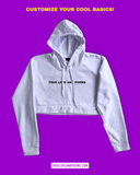 TL&P Cropped Hoodie / White / Pre-order
