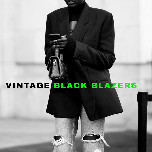 The Tailored Hunt -01 / Vintage Black blazers