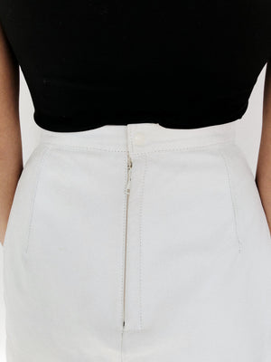 White leather vintage Skirt