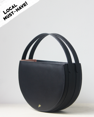 The Simone Circle Bag / Black