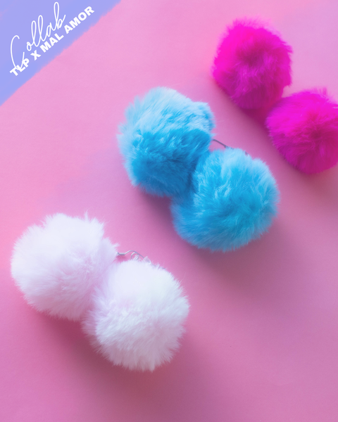 Pendientes Pom-Pom Party Set X3