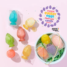 Crystal Easter Eggs filled with Candy Pearls