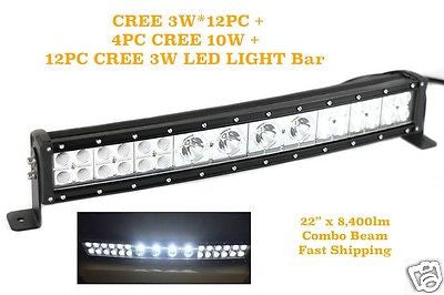 112w HYBRID LED COMBO BEAM 4WD OFF-ROAD LIGHT BAR