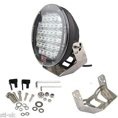 "9"" Black 96w LED Spotlight Offroad 4wd Work light"