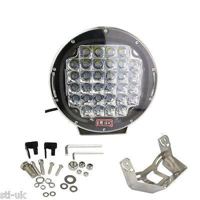 "9"" Round LED Spotlight Offroad 4wd SUV Truck Boat IP67 12-24 Volt Work light  - STL LED ONLINE"