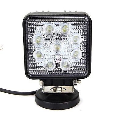 27W LED Square Spot Beam Work Light - STL LED ONLINE