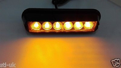 6w LED Strobe Amber Grille Strobe Lights - STL LED ONLINE
