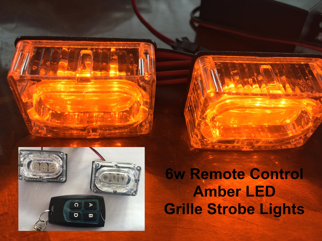 6w Amber LED Flashing Strobe Grille Lights