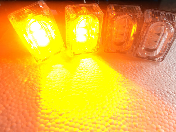 12w Amber Grill Flashing Strobe Lights - Remote Control