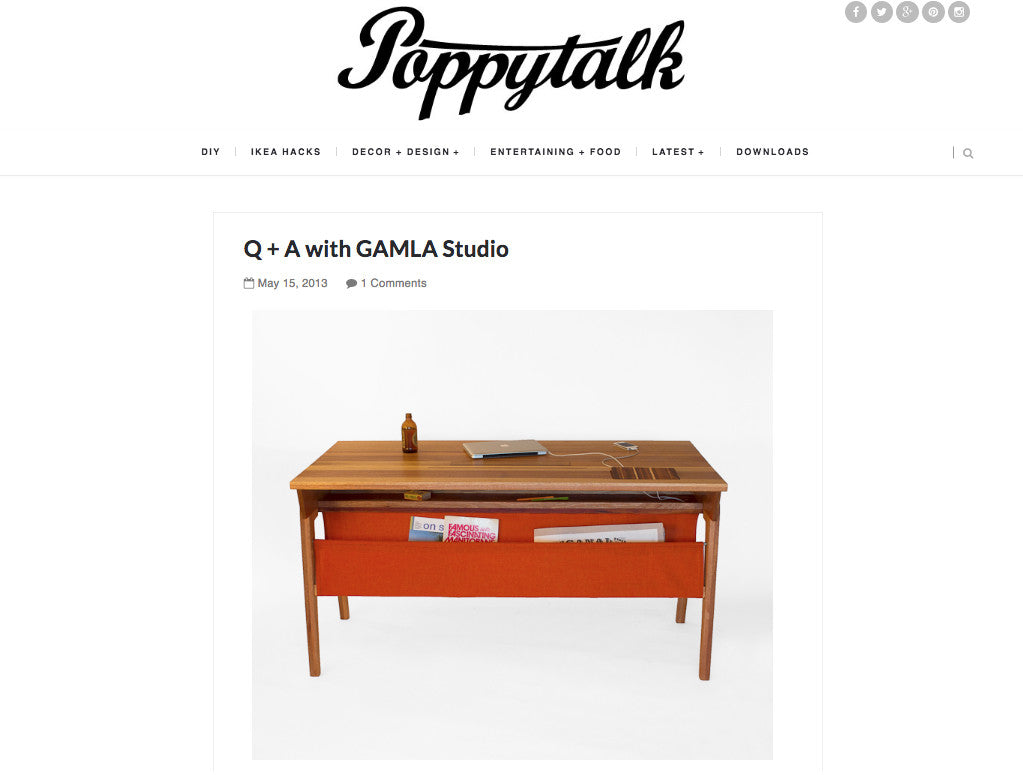 Q+A With Gamla: Feature on Poppytalk