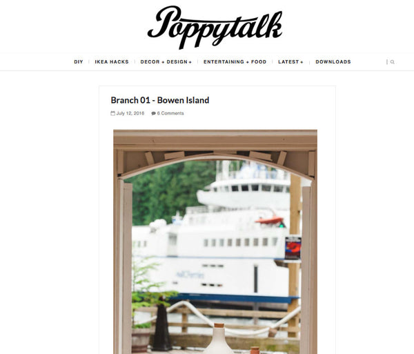 Feature on Poppytalk - Branch 01!