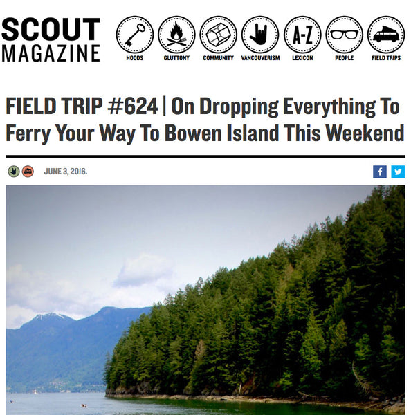 Drop Everything + Come to Bowen: Feature in Scout Magazine