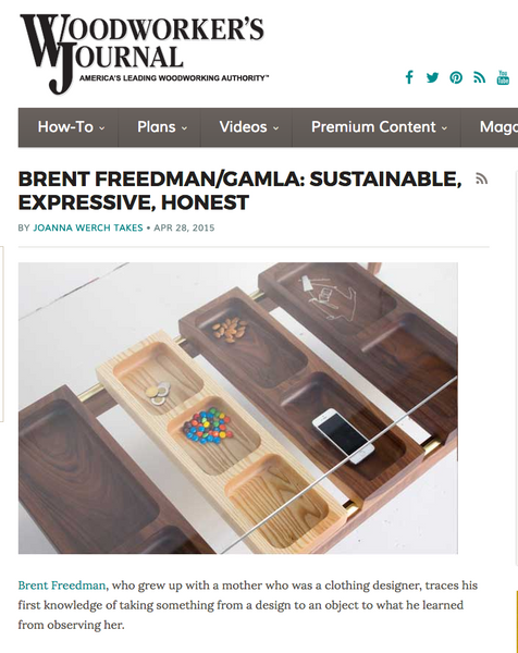 Sustainable, Expressive, Honest: Feature in Woodworker's Journal
