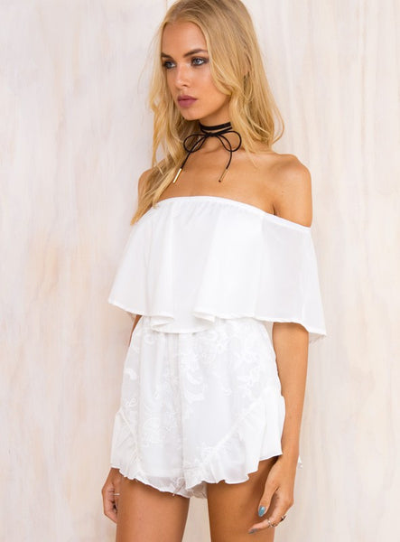 NISOS WHITE PLAYSUIT