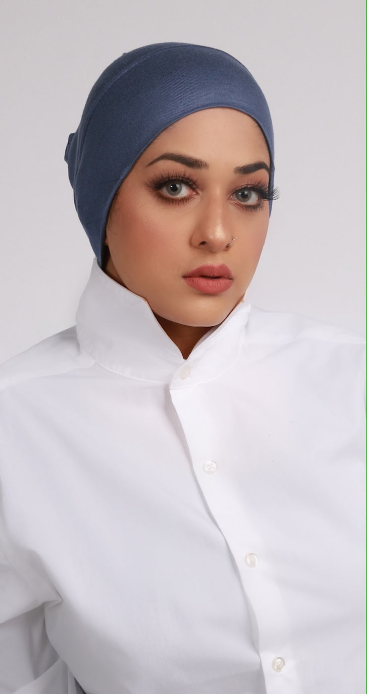DARK SLATE NUDE UNDER HIJAB CAP