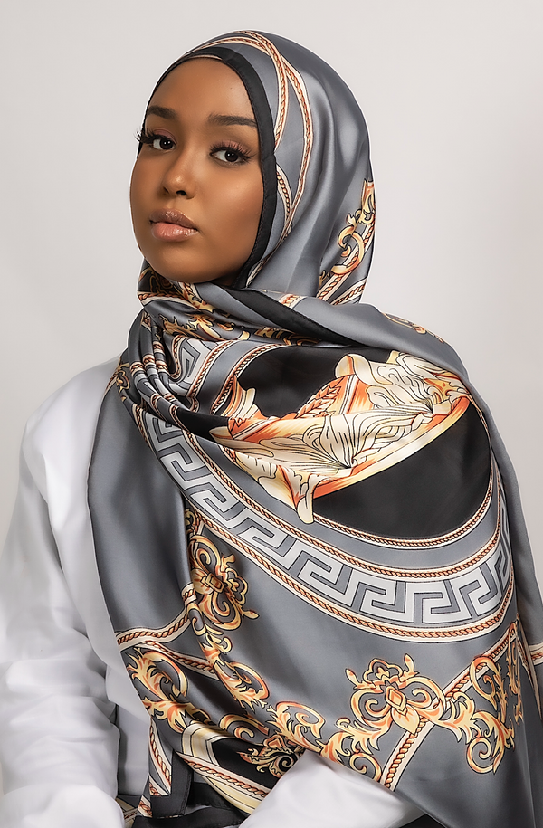 SATIN MAKEBA GREY