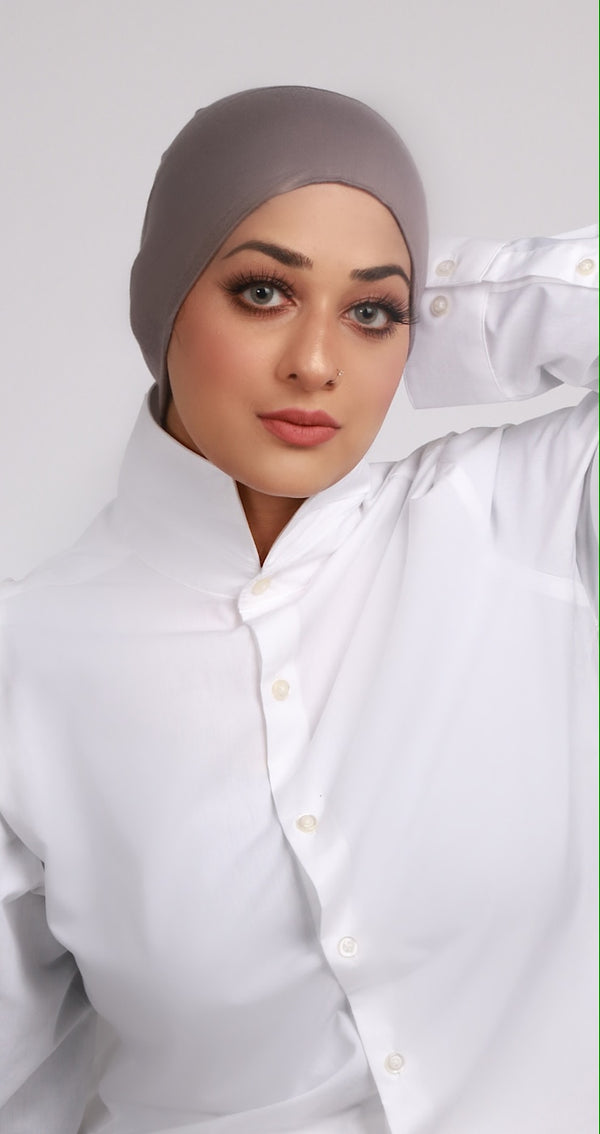 DARK GREY UNDER HIJAB CAP