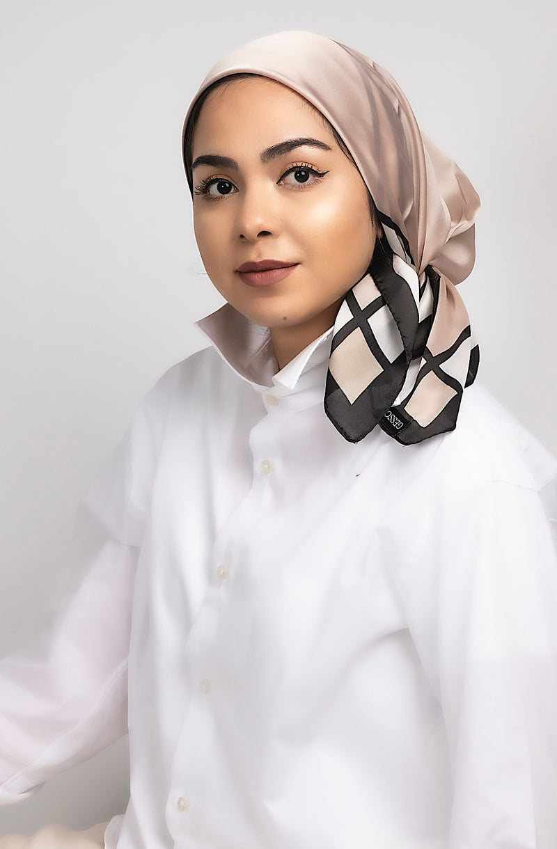 RIBBON square hijab