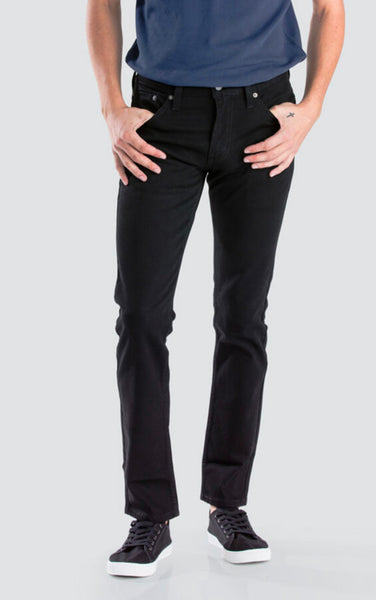 High Rise Ankle Skinny Black Jeans