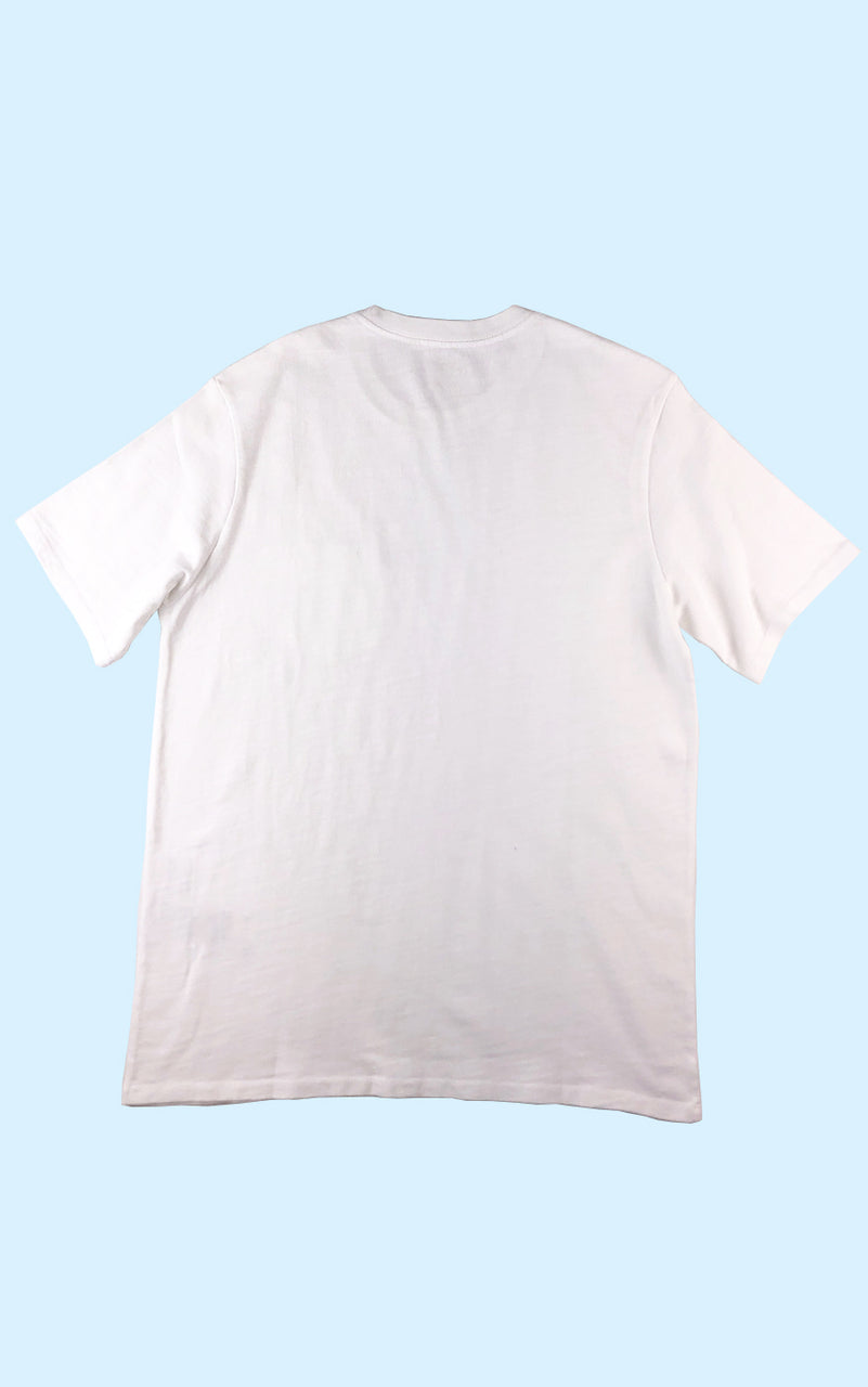 Relaxed Garment Washed Tee White