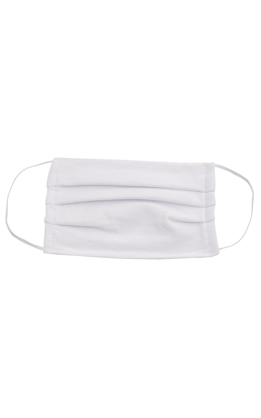 White Jersey Face Mask
