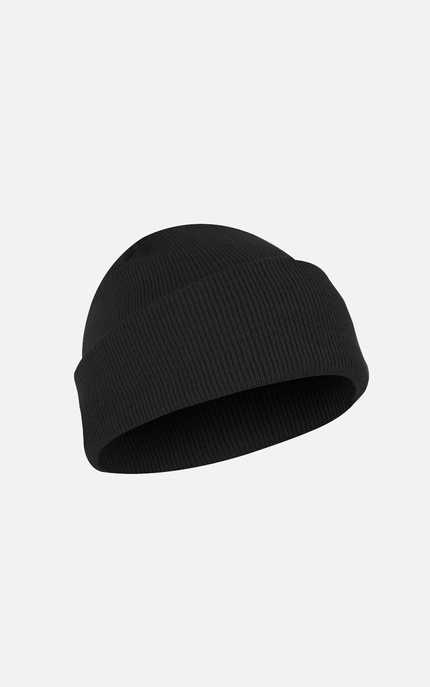 Fine Knit Watch Cap Black