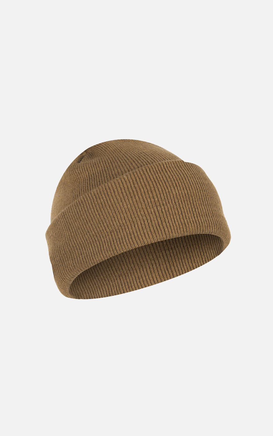 Fine Knit Watch Cap Coyote Brown