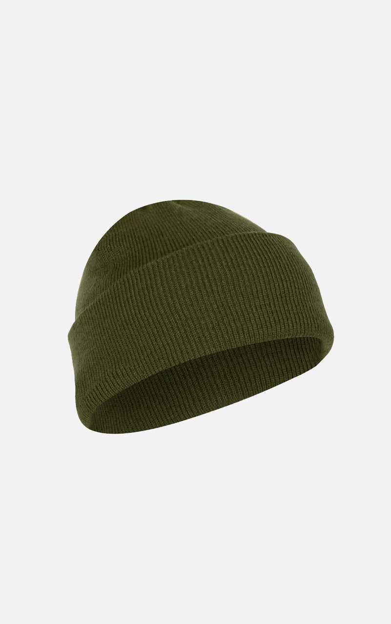 Fine Knit Watch Cap Olive Drab