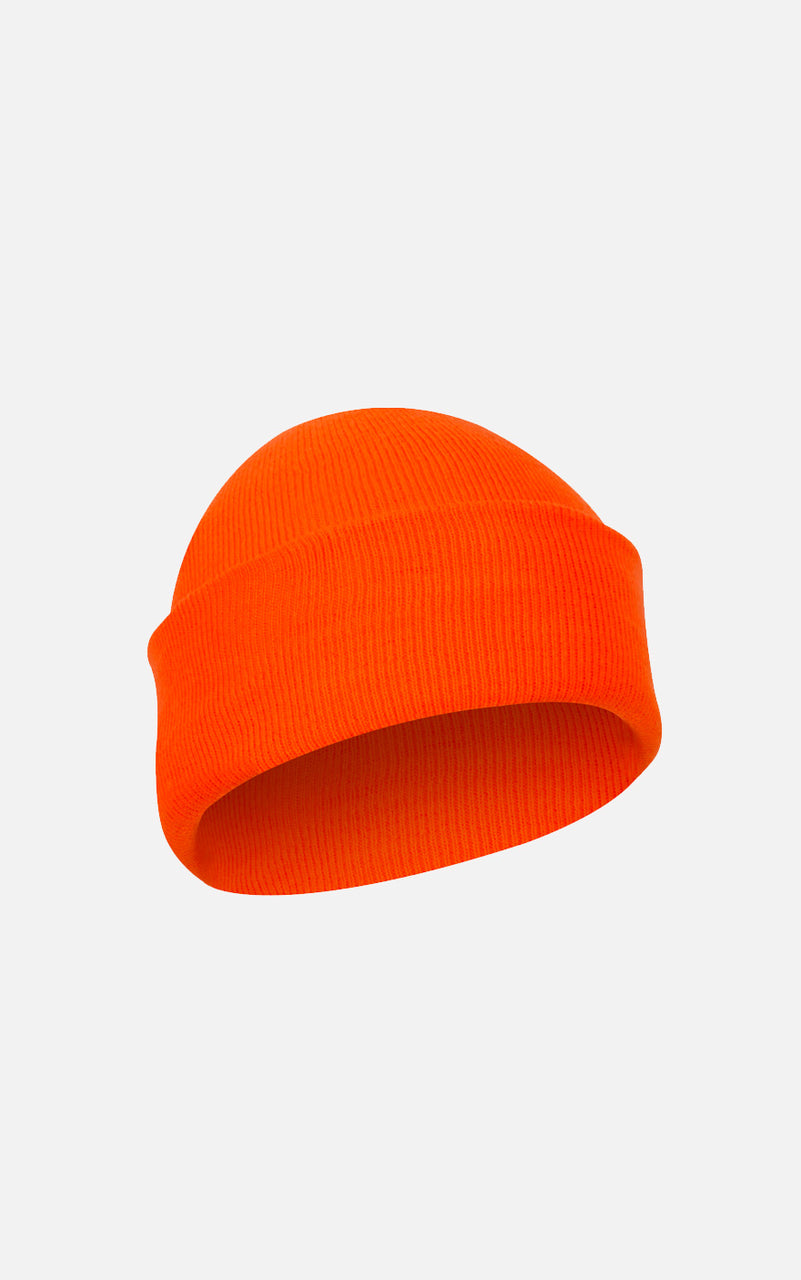 Fine Knit Watch Cap Orange