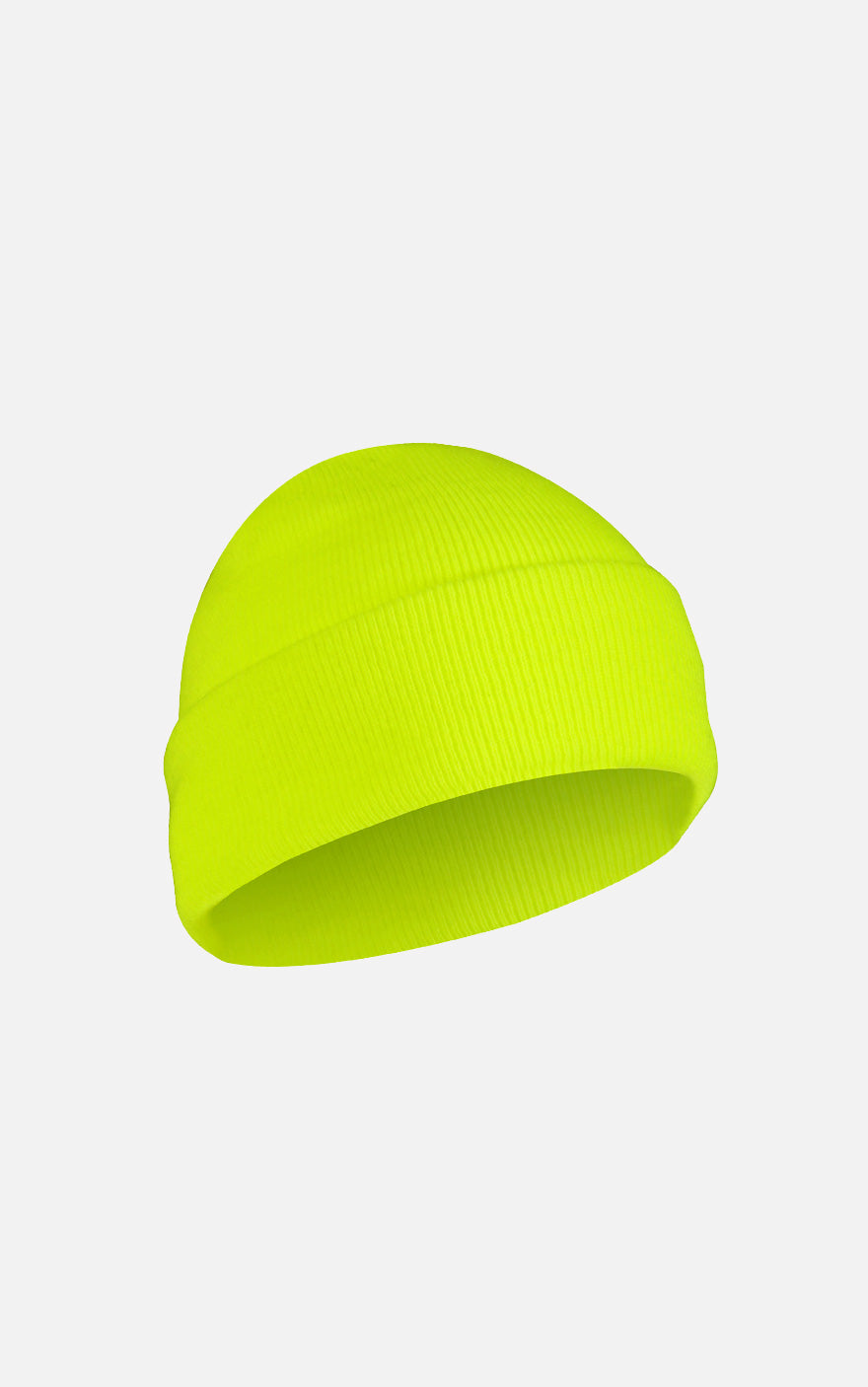 Fine Knit Watch Cap Safety Green