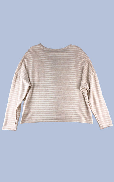Lounge Deluxe Stripe Sweatshirt